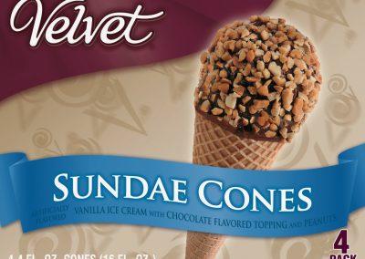 NT Sundae Cones Vanilla/Chocolate/Peanut